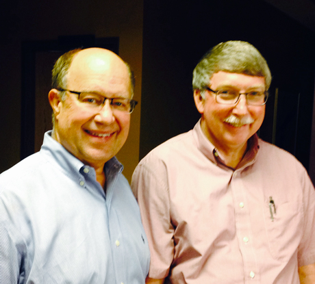 Dr. Paul Coffin with Dr. Ron Hruska